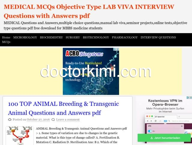 General Microbiology Mcqs With Answers Pdf